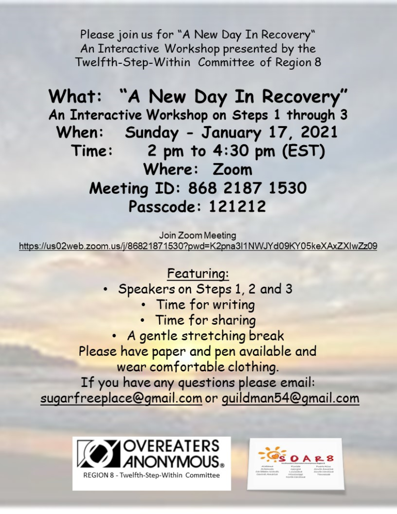 A New Day in Recovery Workshop